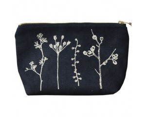 One Thousand Lines Pouch - Black/Botanica