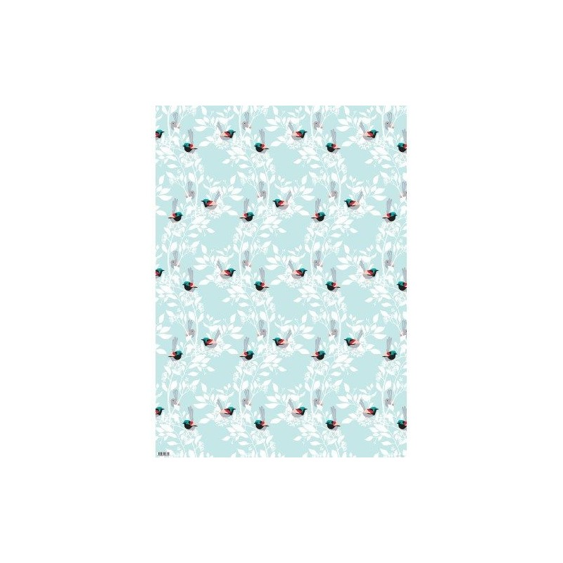 Earth Greetings Christmas Wrapping Paper - Fairy Wrens