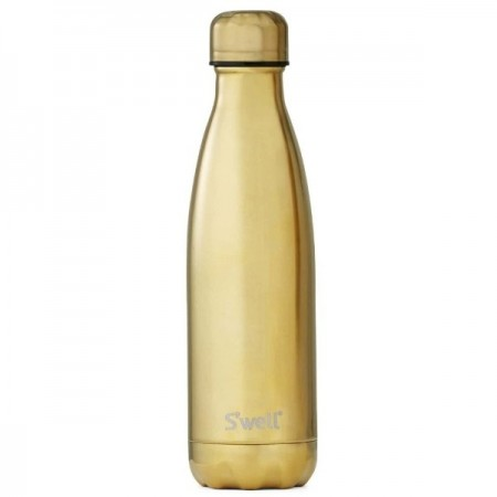 S'Well Stainless Steel Water Bottle 500ml - Yellow Gold