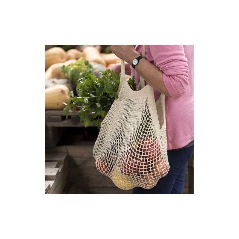 Organic Cotton String Shopping Bag - Natural