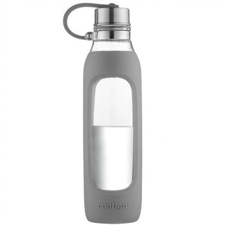 Contigo Purity Glass Water Bottle - Smoke