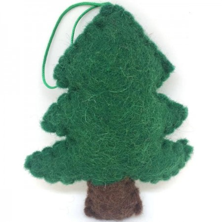 Christmas Decorations.Fairtrade Felt Christmas Decorations Xmas Tree Biome Eco Stores