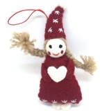 Fairtrade Felt Christmas Decoration - Fairy with Hat