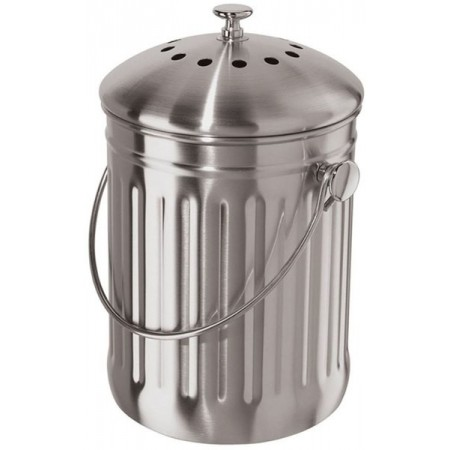 Incredible Oggi Stainless Steel Compost Bin 3 8L Biome Eco Stores Download Free Architecture Designs Parabritishbridgeorg