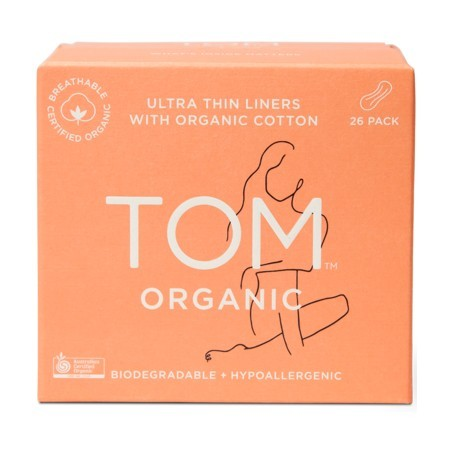 Tom Organic Cotton Ultra Thin Liners 26pk