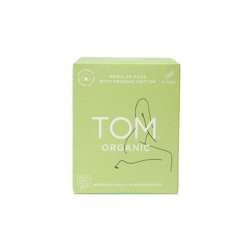 Tom Organic Cotton Pads with Wings 10pk - regular