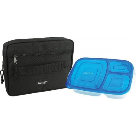 PackIt Freezable Bento Box Set - Black