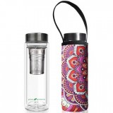 BBBYO Glass Tea Flask with Cover 500ml - Mandala