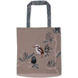 The Linen Press - Kookaburra & Banksia Shopper Bag