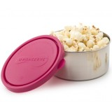 UKonserve Large Round Stainless Steel Container 16oz 470ml - Magenta