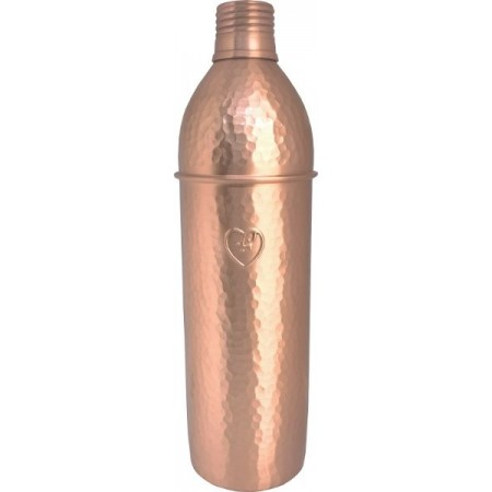 Yogibeings Copper Water Bottle 750ml - Hammered Matte Tall & Slim