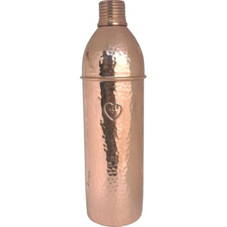 Yogibeings Copper Water Bottle 750ml - Hammered Polish Slim