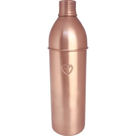 Yogibeings Copper Water Bottle 750ml - Matte Tall & Slim