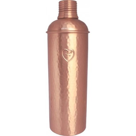 Yogibeings Copper Water Bottle 600ml - Hammered Matte Slim