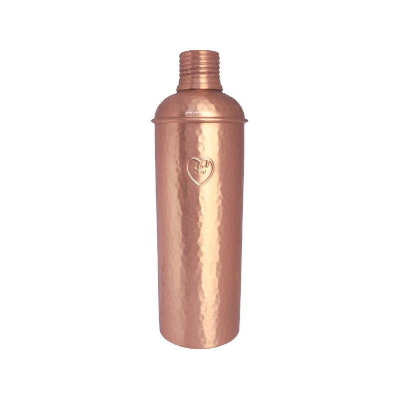 Yogibeings Copper Water Bottle 600ml - Hammered Matte