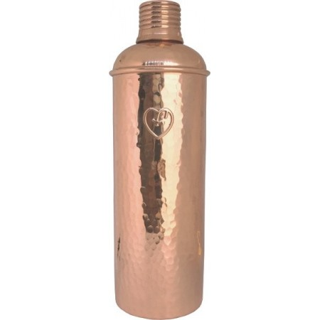 Yogibeings Copper Water Bottle 600ml - Hammered Polish Slim