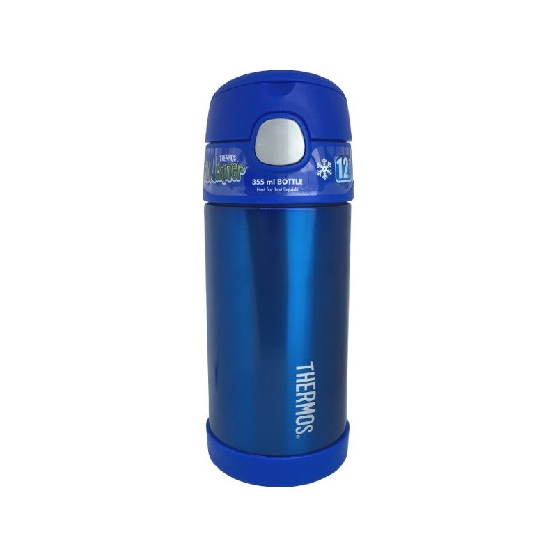 Thermos FUNtainer 335ml Stainless Steel Water Bottle with Straw - Blue