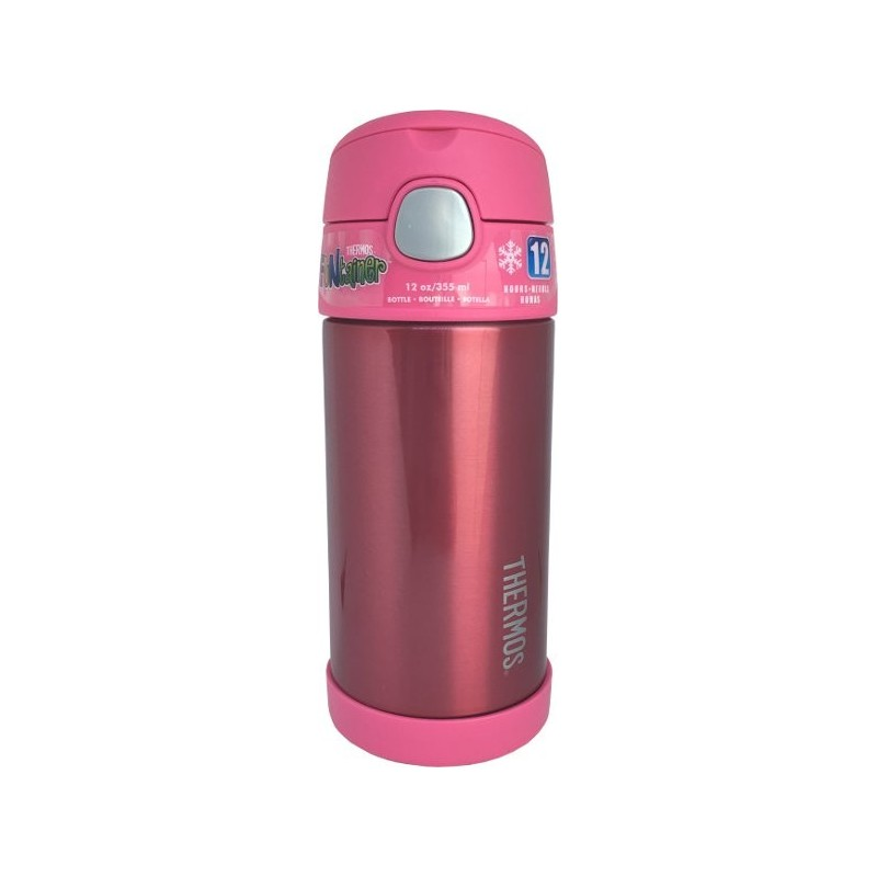 Thermos FUNtainer 335ml Stainless Steel Water Bottle with Straw - Pink