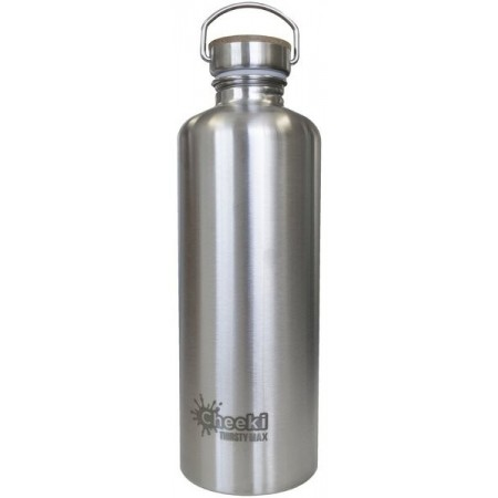 Cheeki 1.6L XL Stainless Steel Water Bottle - Silver