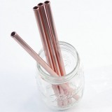 Rose Gold Stainless Steel Scratch Proof Safety Straw 9mm