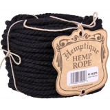 Hemp Rope Ball 4mm Black