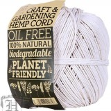 Hemp Cord Ball 2.5mm White