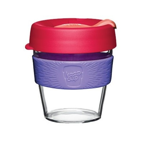 KeepCup Small Clear Plastic Coffee Cup 8oz (227ml) - Lychee