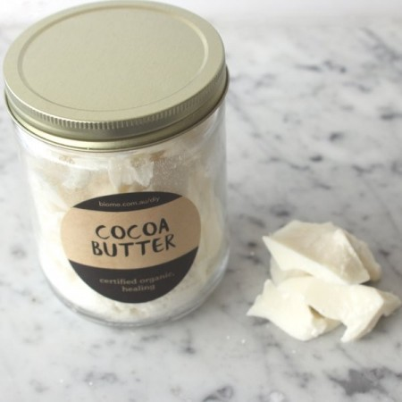 Cocoa Butter Certified Organic in Glass Jar 250g