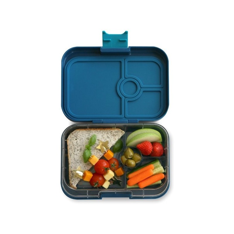 yumbox lunch box panino 4 compartment empire blue biome. Black Bedroom Furniture Sets. Home Design Ideas