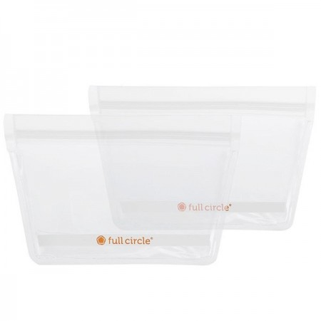 Full Circle ZipTuck Reusable Snack Bags 2pk - Clear