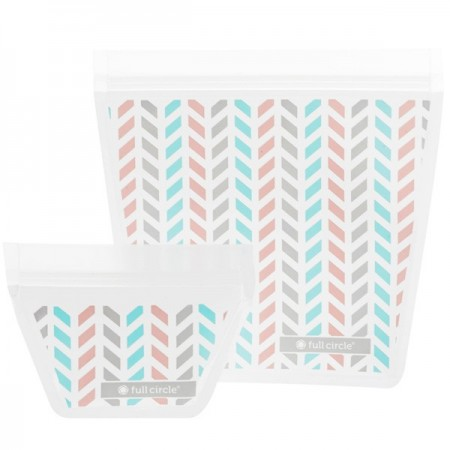 Full Circle ZipTuck Reusable Travel Bags 2pk - Chevron