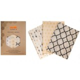 Queen B Beeswax Wraps Medium (3pk) - Neutral Pattern