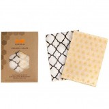 Queen B Beeswax Wraps Large (2pk) - Neutral Pattern
