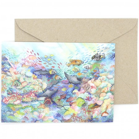 Ingrid Bartkowiak Art Watercolour Card - Great Barrier Reef