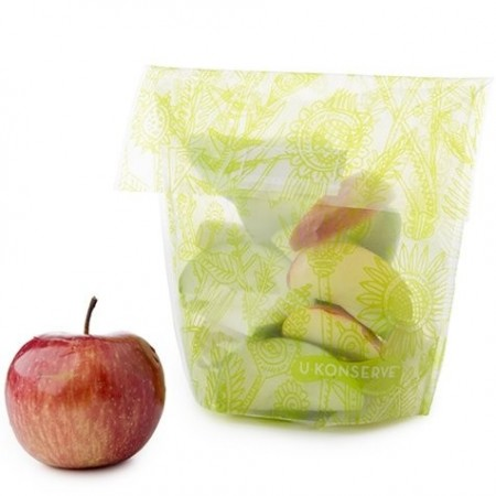 Kids Konserve Food Kozy Snack Bag - Lime