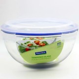 Glasslock Storage Bowl 4L - Round Blue