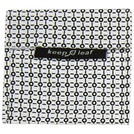 Keep Leaf Large Reusable Baggie - Black & White