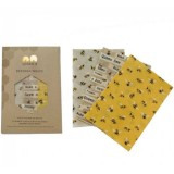 Queen B Beeswax Wraps Medium (3pk) - Limited Edition Bees