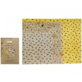 Queen B Beeswax Assorted Wraps (3pk) - Limited Edition Bees