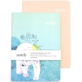 Notely Notebook Set A5 - Polar Wanderings Lined