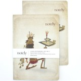 Notely Notebook Set A5 - Eco Warrior Lined