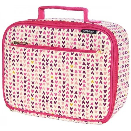 Keep Leaf Organic Cotton Insulated Lunchbox - Hearts