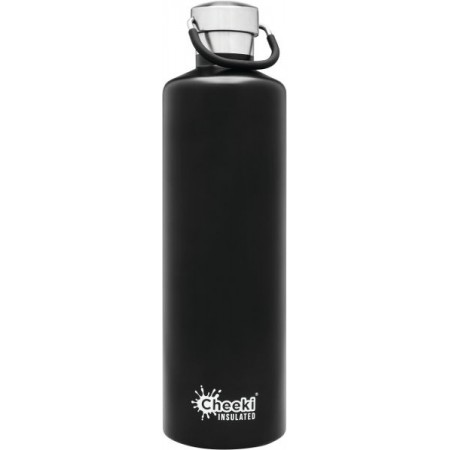 Cheeki 1L Stainless Steel Insulated Bottle - Matte Black