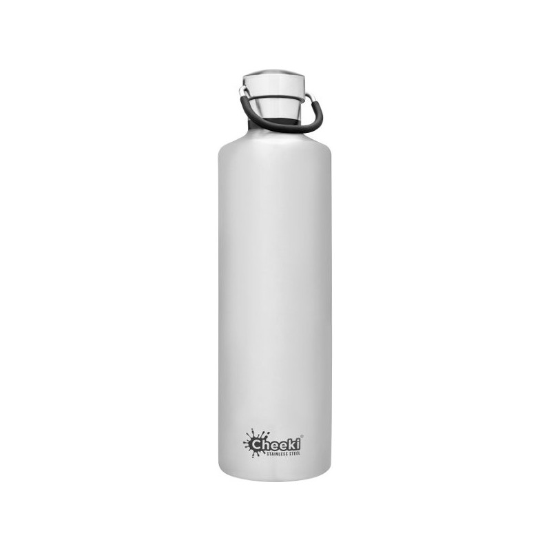 Cheeki 1L Stainless Steel Insulated Bottle - Silver