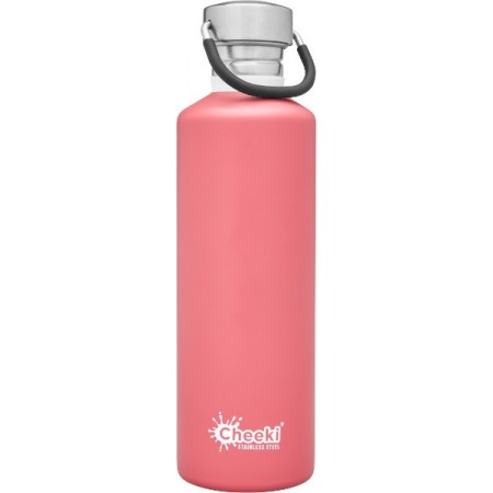 Cheeki 750ml Stainless Steel Water Bottle - Dusty Pink