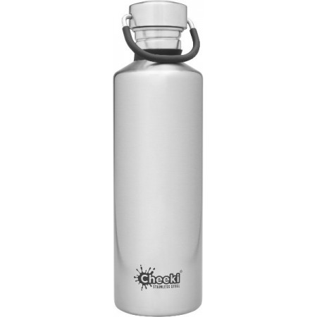 Cheeki 750ml Stainless Steel Water Bottle - Silver