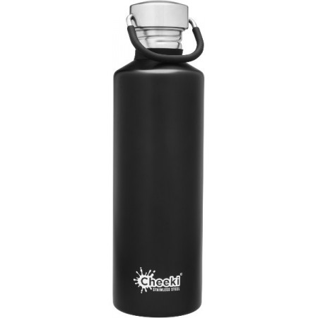 Cheeki 750ml Stainless Steel Water Bottle - Matte Black