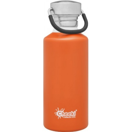 Cheeki 500ml Stainless Steel Water Bottle - Orange