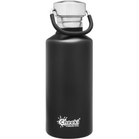 Cheeki 500ml Stainless Steel Water Bottle - Matte Black