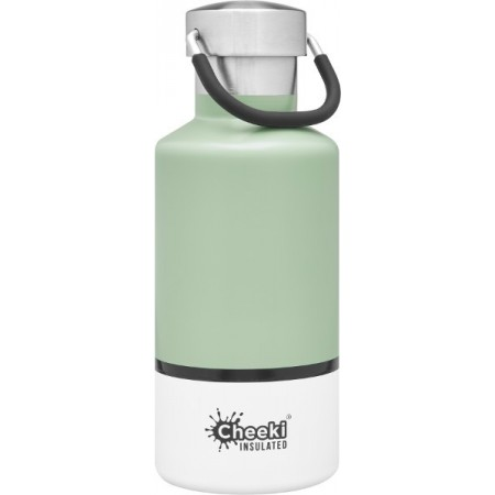 Cheeki 400ml Stainless Steel Insulated Bottle - Pistachio